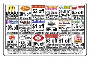 Sample Fundraising Discount Card Back