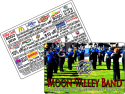 High School Marching Band Fundraising Cards