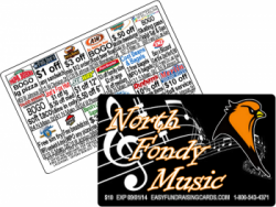 Discount Cards fundraising works for Bands, Marching bands, Choirs and Music Departments