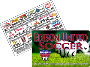 Fundraising Discount Cards for Soccer Clubs